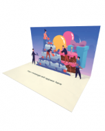 Send Birthday eCard and Online Greeting Card to your Friends and Family. People Decorating Birthday Cake - Birthday eCard.