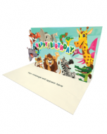 Send Birthday eCard and Online Greeting Card to your Friends and Family. Animals Wishing a Happy Birthday - Birthday eCard