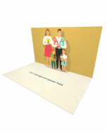 Send Baby Shower eCard and Online Greeting Card to your Friends and Family. Happy Family With New Born Twins and Pets eCard.