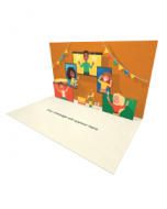 3D Pop-up Zoom Party eCard and electronic greeting card