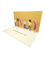 3D Pop-up Happy People Partying eCard and electronic greeting card