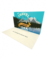 Send Inspiration eCard and Online Greeting Card to your Friends and Family. Travel Is Always a Good Idea - Inspiration and Motivation eCard