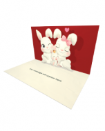 3D Pop-up Happy Rabbits Family Love eCard and Electronic Greeting Card