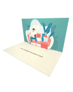3D Pop-up Man and Woman at Home eCard and Electronic Greeting Card