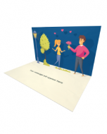 3D Pop-up Romantic Night eCard and Electronic Greeting Card