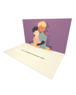 3D Pop-up Gay Male Couple eCard and Electronic Greeting Card