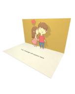 Girl Kissing Boy eCard