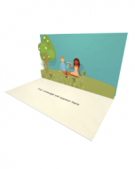 3D Pop-up Romantic Picnic eCard and Electronic Greeting Card