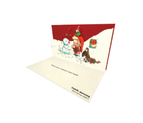 3D Pop-up Santa Claus by Mauri Kunnas official eCard and electronic greeting card