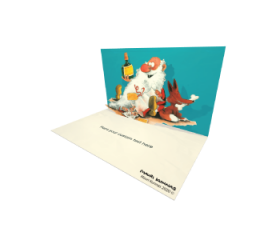 3D Pop-up Happy Santa eCard and electronic greeting card