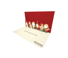 3D Pop-up Santa Christmas Gnomes eCard and electronic greeting card