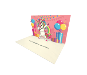 Send Birthday eCard and Online Greeting Card to your Friends and Family. Unicorn Dab - Birthday eCard.