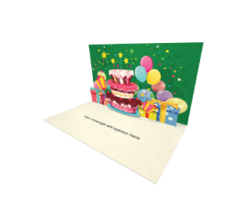 Send Birthday eCard and Online Greeting Card to your Friends and Family. Birthday Cake With Stars - Birthday eCard.