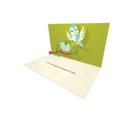 Send Baby Shower eCard and Online Greeting Card to your Friends and Family. Flying Bird Baby Bird Nest eCard.