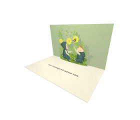 Send Beautiful eCard and Online Greeting Card to your Friends and Family. Two Babies Playing With Butterfly Garden eCard.