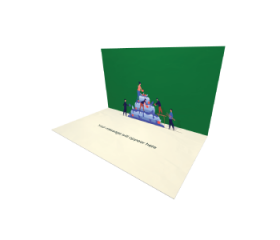 3D Pop-up Decorating Birthday Cake eCard and electronic greeting card