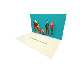 3D Pop-up Family Party eCard and electronic greeting card
