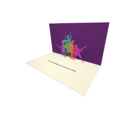 3D Pop-up Birthday Cake with Candles eCard and electronic greeting card
