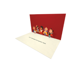 3D Pop-up Kids Party eCard and electronic greeting card