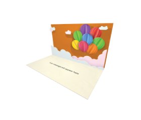 3D Pop-up Balloons in the Sky eCard eCard and electronic greeting card