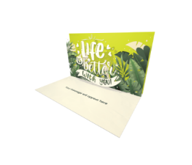 Send Inspiration eCard and Online Greeting Card to your Friends and Family. Life Is Better With You - Inspiration and Motivation eCard