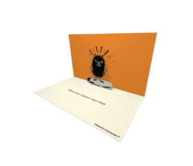 3D Pop-up Moomin Stinky Official eCard and electronic greeting card