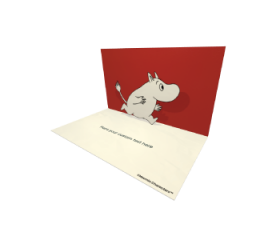 3D Pop-up Moomin Moomintroll Official eCard and electronic greeting card
