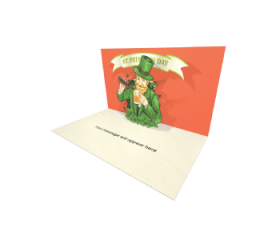 Send Saint Patrick's Day eCard and Online Greeting Card to your Friends and Family. St Patrick's Day Shamrock Beer eCard