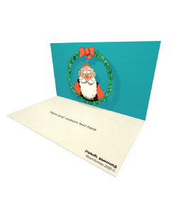 3D Santa Wreath eCard and electronic greeting card