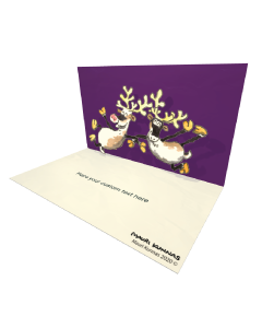 3D Pop-up Dancing Reindeers eCard and electronic greeting card