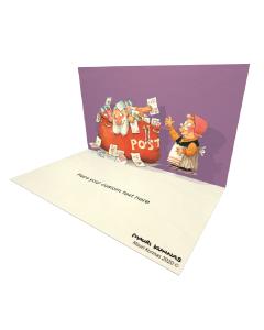 3D Pop-up Santa Mail Bag eCard and electronic greeting card