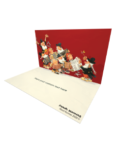 3D Pop-up Christmas Song eCard and electronic greeting card