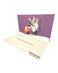 3D Pop-up Ville and Reindeer eCard and electronic greeting card