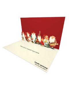 3D Pop-up Santa Christmas Gnomes eCard and electronic greeting card