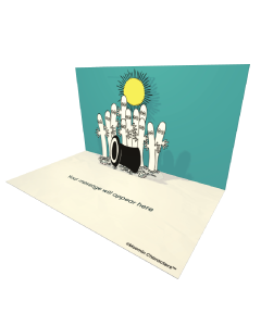 3D Pop-up Moomin Hattifatteners Official eCard and electronic greeting card