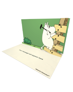 Moomintroll Hammering a Nail Moomin Official eCard and online greeting card for your Friends and Family