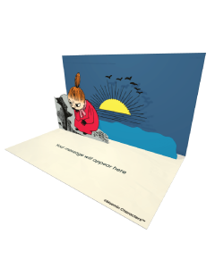 Little My Sitting on a Rock Moomin Official eCard and online greeting card for your Friends and Family