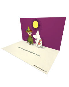 Send Moomin eCards and Online Greeting Cards to your Friends and Family. Snufkin and Moomintroll Holding a Book - Moomin Official eCard.