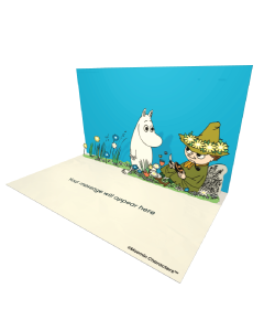 Send Moomin eCards and Online Greeting Cards to your Friends and Family. Moomintroll and Snufking Carving a Wooden Boat - Moomin Official eCard.