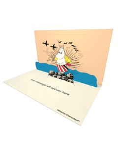 3D Pop-up Moomin Moominmamma Official eCard and electronic greeting card