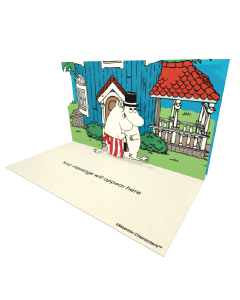 Send Moomin eCards and Online Greeting Cards to your Friends and Family. Moominmamma and Moominpappa Standing by the Moominhouse - Moomin Official eCard