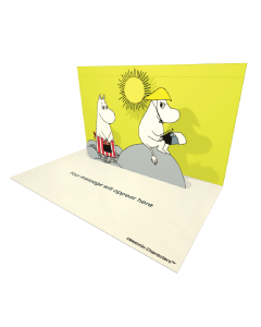 Send Moomin eCards and Online Greeting Cards to your Friends and Family. Moominmamma and Moominpappa  With a Typewriter - Moomin Official eCard.