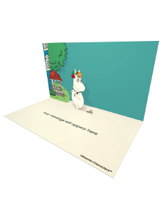 Send Moomin eCards and Online Greeting Cards to your Friends and Family. Snorkmaiden Standing Next to the Moominhouse - Moomin Official eCard.