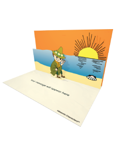 Send Moomin eCards and Online Greeting Cards to your Friends and Family. Snufkin Holding a Seashell To His Ear - Moomin Official eCard.
