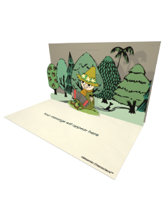 Send Moomin eCards and Online Greeting Cards to your Friends and Family. Snufkin with Accordion - Moomin Official eCard.