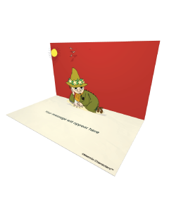 Send Moomin eCards and Online Greeting Cards to your Friends and Family. Snufkin With a Seashell - Moomin Official eCard.