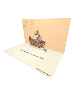 Send Moomin eCards and Online Greeting Cards to your Friends and Family. Hemulen in a Boat - Moomin Official eCard.