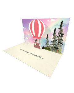 Send Engagement and Marriage eCard and Online Greeting Card to your Friends and Family. Married Couple in a Hot Air Balloon eCard - Online Greeting Card.