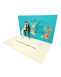 Send Engagement and Marriage eCard and Online Greeting Card to your Friends and Family. Wedding Couple Sitting on the Floral Swing eCard - Online Greeting Card.