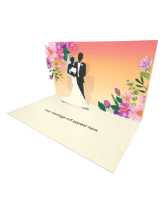 Send Engagement and Marriage eCard and Online Greeting Card to your Friends and Family. Wedding Couples Silhouette eCard - Online Greeting Card.